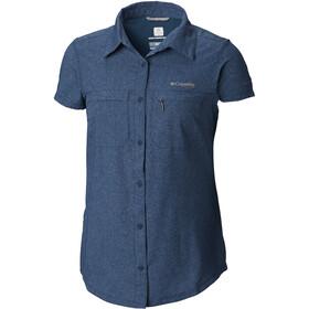 Columbia Irico Short Sleeve Shirt Women Petrol Blue Heather